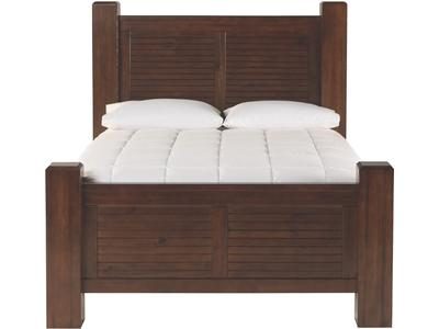 The panel headboard and footboard of this colle...