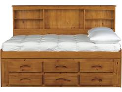 Kendall Full Bookcase Storage Bed
