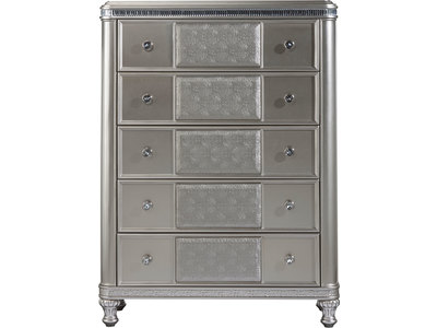 Enjoy the handy storage of five drawers with th...