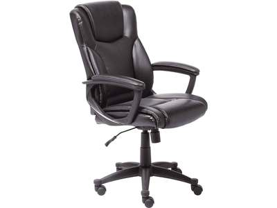 Executive desk chair with contoured lumbar supp...