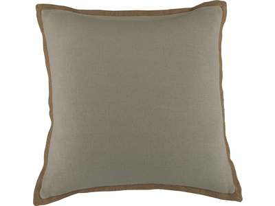 Decorative accent pillow in a taupe colored 100...