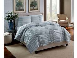 Soft Blue King 3pc Linens
