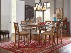 Ashleigh Brown Counter Dining Set