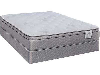 This twin mattress features designer fabric, Co...