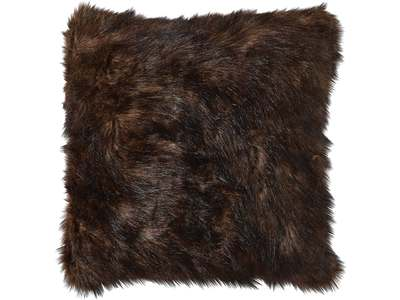 "20""X20"" Accent pillow covered in faux mink fabr..."