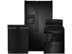 Amana 3pc Black Appliance Package