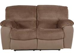 Cozy Chocolate Reclining Loveseat