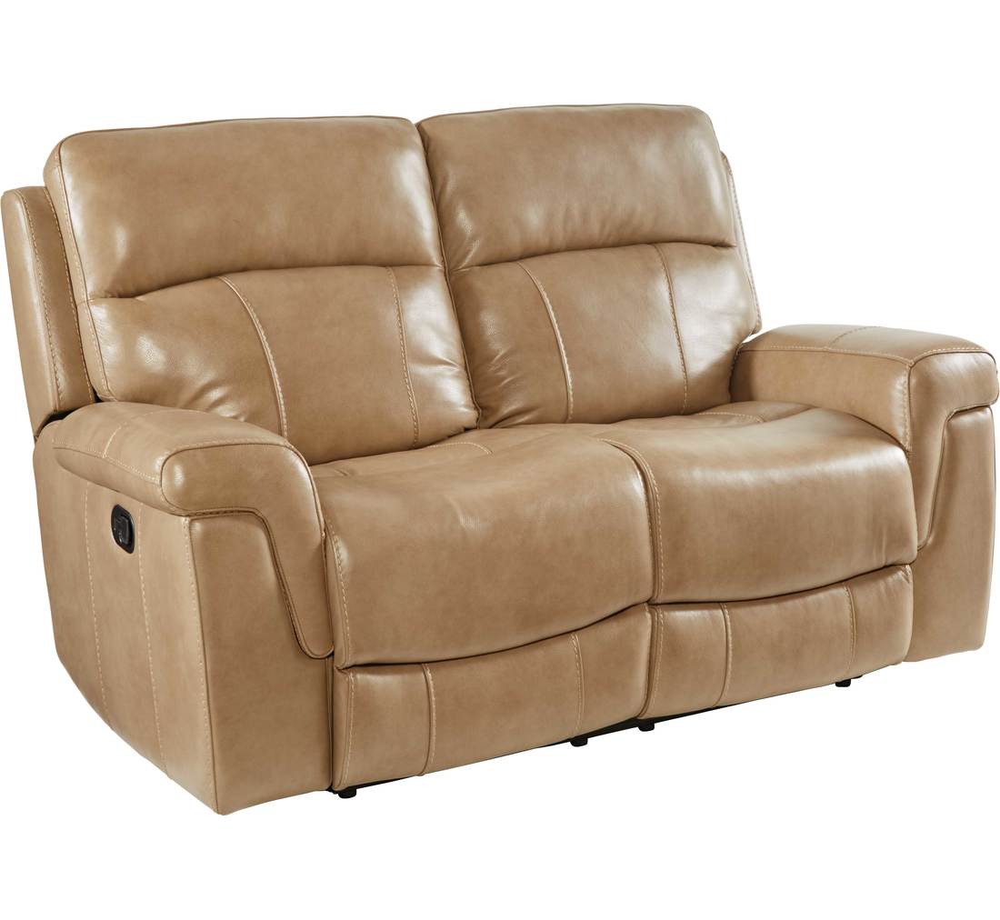 Buckhead Tan Reclining Loveseat Badcock More