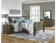Lewiston Grey 5 Pc Queen Bedroom Group