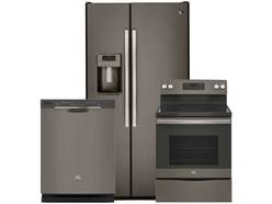 GE 3 Pc Slate Appliance Package