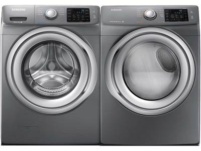 This front load washer has 9 wash cycles, 5 tem...