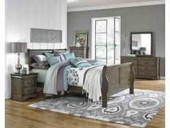 Lewiston Grey 5 Pc King Bedroom Group