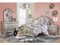 Grace Silver 5pc Full Bedroom