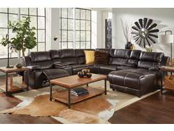 Bristol 8 Pc Sectional w/ RAF Pressback Chaise