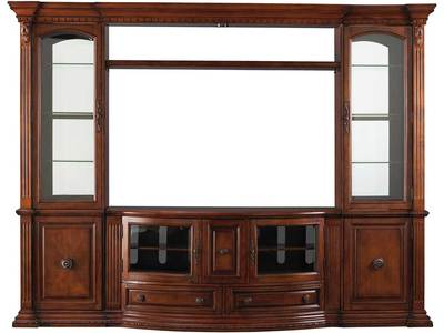 This beautiful entertainment center is construc...
